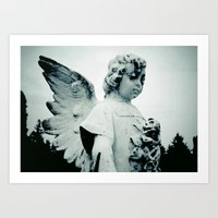 outdoor Art Prints featuring Outdoor angel by Vorona Photography