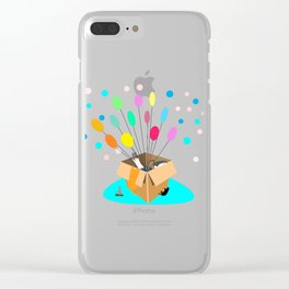 Weightless Explorers Clear iPhone Case