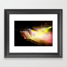 Niagara Falls at Night Framed Art Print