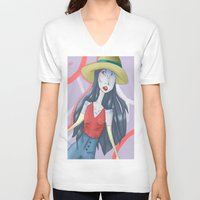 marceline V-neck T-shirts featuring marceline!! by clairen0vak