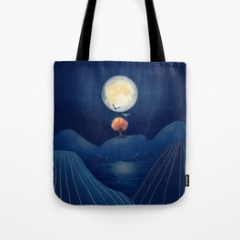Full moon night Tote Bag