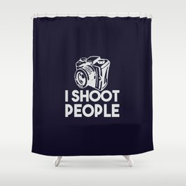 The photographer weapon Shower Curtain