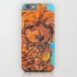 Jo the Poodle Portrait iPhone Case