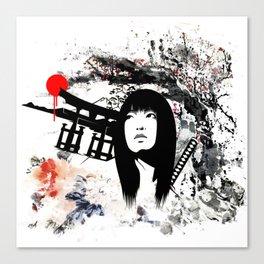 Japanese Geisha Warrior Canvas Print