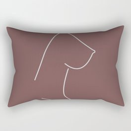 Female Nude Breast No.3 Rectangular Pillow