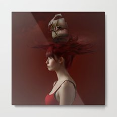Sailing - Red Metal Print