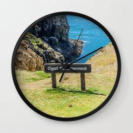 Ogof Colomennod, Ramsey Island, Wales Wall Clock