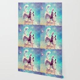 Pillars of Creation Aqua Cool Wallpaper
