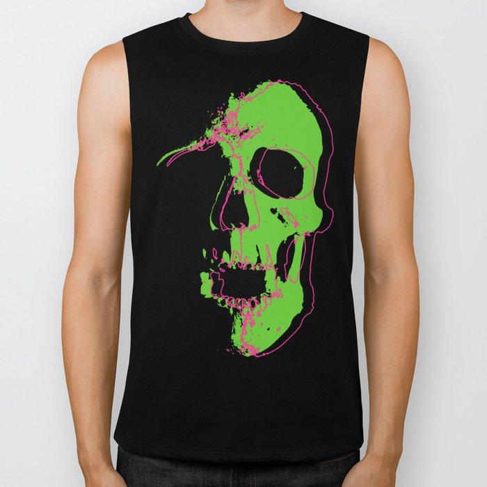 Skull - Neon Biker Tank