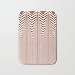 Art Deco Geometric Arrowhead Dusty Peach Design Bath Mat