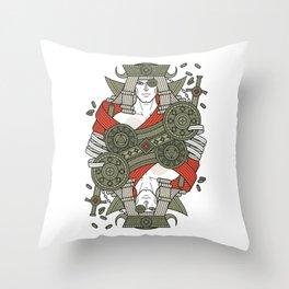 SINS Mentis - Greed Jack of Diamonds Throw Pillow