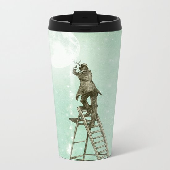 Waning Moon Metal Travel Mug
