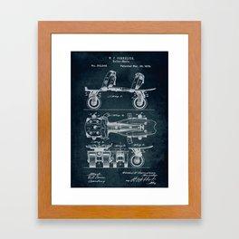 1879 - Roller-Skate patent art Framed Art Print