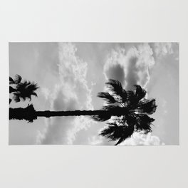 Palm Trees In Black And White Rug
