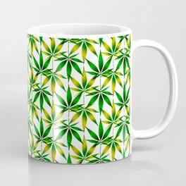 WEED LOVE, GREEN YELLOW Cannabis Smoke Marijuana Coffee Mug