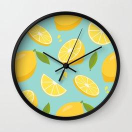 Adorable Lemon Pattern Wall Clock