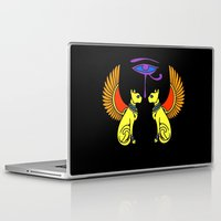egyptian Laptop & iPad Skins featuring Egyptian Cats by waggytailspetportraits