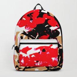 Red Flowers Garden Backpack