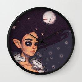 Moon Elemental Wall Clock