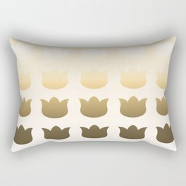 Botanical Pattern 4 Tulipo Beige Burlywood Rectangular Pillow