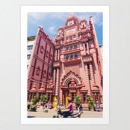 Jami-Ul-Alfar Mosque (Red Mosque) Colombo, Sri Lanka Art Print