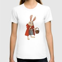 red hood T-shirts featuring Little Red Riding Hood by Alyssa Tallent