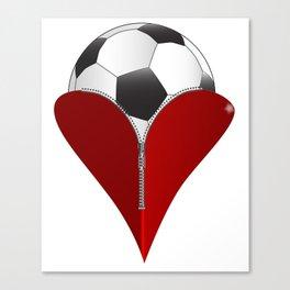 Love Soccer Canvas Print