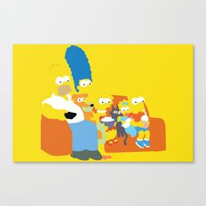 The Simpsons - Family Canvas Print