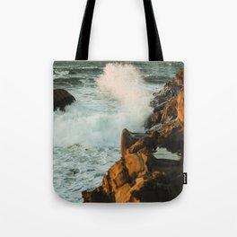 waves come crashing Tote Bag
