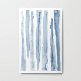 Watercolor blue strokes Metal Print