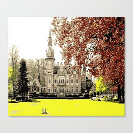 Building in autumn Canvas Print