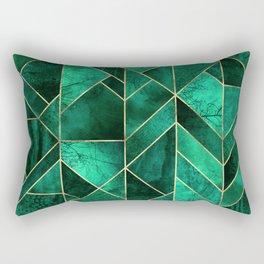 Abstract Nature - Emerald Green Rectangular Pillow