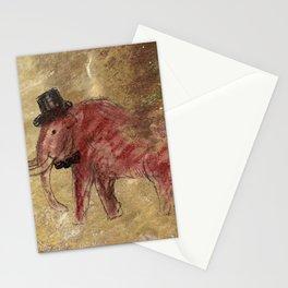 Cave art vintage mamut. Stationery Cards
