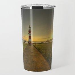 Smeaton's Tower Sunset  Travel Mug