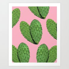 Cactus on pink backround #society6 Art Print