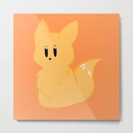 Chibi Fox Metal Print