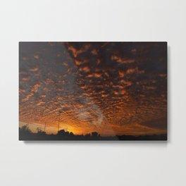 Fire Sky in Arizona Metal Print