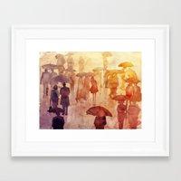 takmaj Framed Art Prints featuring Summer day by takmaj