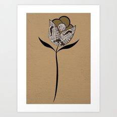 paper flower Art Print