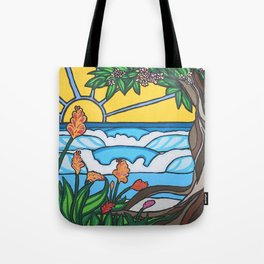 Love Tree Surf Art by Lauren Tannehill Art Tote Bag