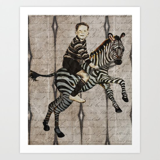 William Tames a Zebra - option 2 Art Print