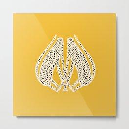 Snow Cheetahs Metal Print