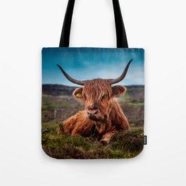 Scottish Highland longhorns Rancher Tote Bag