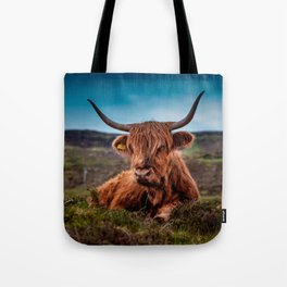 Scottish Highland longhorns Rancher Tote Bag