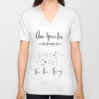once upon a  time V-neck T-shirts featuring Once Upon a Time... by girlinplaits
