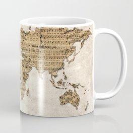 world map music vintage Coffee Mug