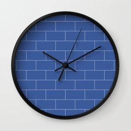 Brickston - Zuckerberg Blue Wall Clock