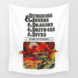 Escape from Flavortown - dungeons dragons Wall Tapestry