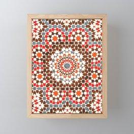 N64 - Traditional Geometric Moroccan Vintage Style Artwork Framed Mini Art Print