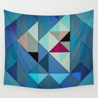 sailboat Wall Tapestries featuring Sailboat Abstract by Alyn Spiller